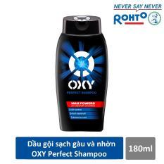 Dầu gội đánh bật gàu và nhờn cho nam Oxy Perfect Shampoo 180ml