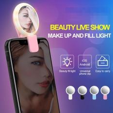 Đèn Led trợ sáng chụp hình Selfie kiêm gương soi