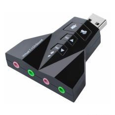 Đầu chuyển USB ra Sound 7.1 hình máy bay ( USB ra Âm Thanh ) 4 Jack cắm tiêu chuẩn 3.5mm