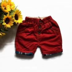 Quần short kaki lật lai cho bé trai từ 10 đến 25 kg