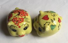 lợn sứ tiết kiệm trang trí để bàn (10x12x12- nhiều mầu )