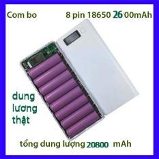 Bộ 8Pin sạc li-ion 18650 2600mAh