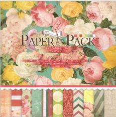 PAPER PACK – GIẤY SCRAPBOOK HOA HỒNG V2 (12X12 INCH & STICKER)_GHM78