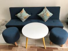 SF – Bộ sofa bed, sofa giường xanh 1m7x90, bộ sofa phòng khách, salon, sopha