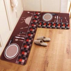 Bộ 2 thảm trải sàn nhà bếp tiện dụng