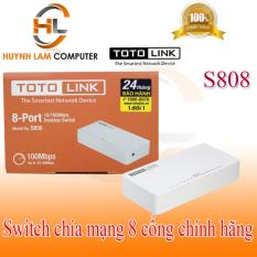 Switch 8 port S808 Totolink 100Mbps DGW phân phối – Bộ chia mạng 8 cổng