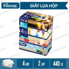 BỘ 4 Giấy hộp Kleenex Room Design 2 lớp x110 tờ/ 1 hộp [ TTN – GVS VN 04 ]