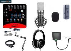Combo thu âm số 11: Sound card Icon pro+ Micro Takstar PCk600+ Tai nghe Takstar HD2000