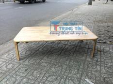 bàn gỗ xếp cao cấp 70*120 cm màu gỗ tự nhiên HÀNG CÔNG TY