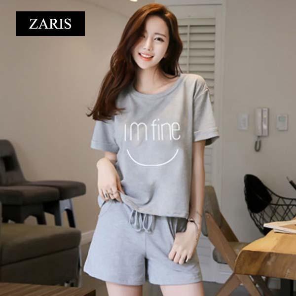 Bộ quần áo mặc nhà vải thun kiểu thể thao ZARIS ZA2915