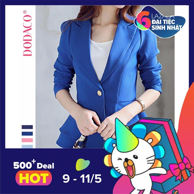 Áo vest nữ áo khoác nữ thời trang nữ DODACO DDC1910 – R0138 (Xanh)