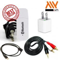 Bộ USB Bluetooth Wireless DMZMusic Receiver tạo kết nối bluetooth cho amply và loa + Tặng Dây cáp Nối dài Usb