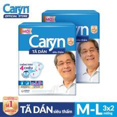 Bộ 2 gói Tã dán Caryn siêu thấm size ML 3 miếng