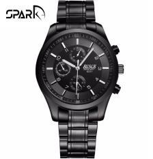 Đồng hồ nam Bosck dây thép không rỉ kim dạ quang 6 kim nam tính style doanh nhân + Tặng hộp đồng hồ sang trọng (Đỏ và đen)