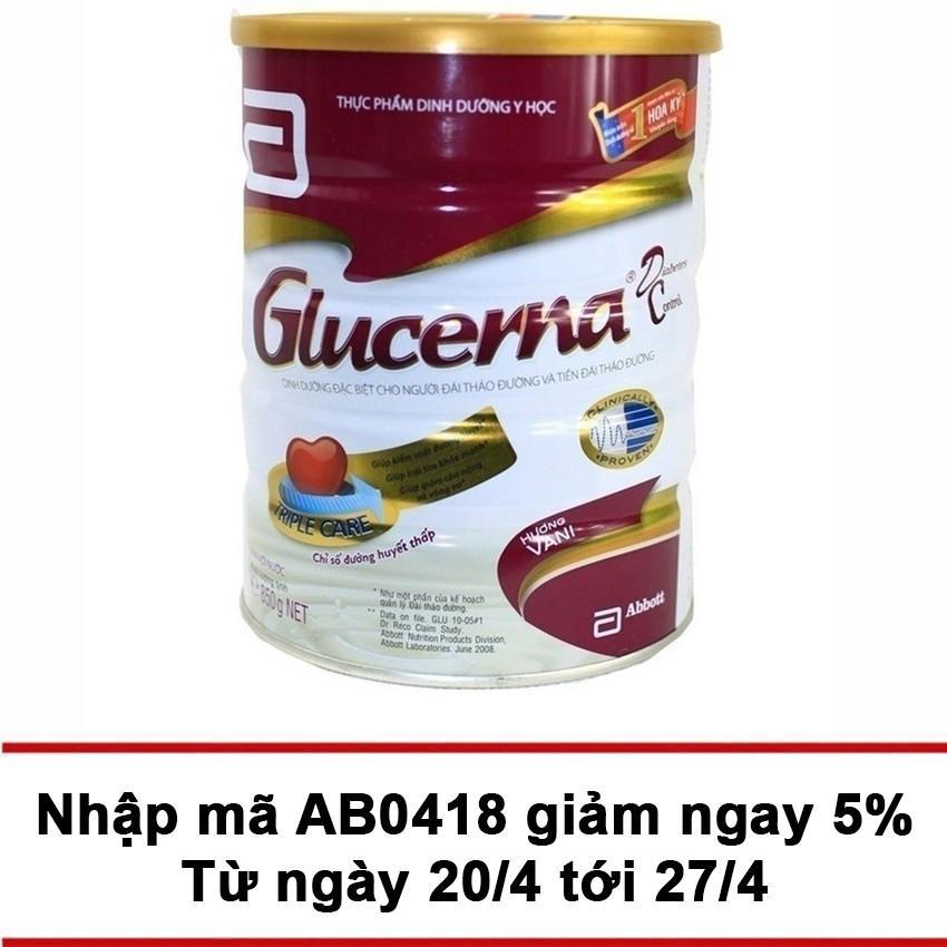 Lon sữa bột Glucerna Hương Vani 850g