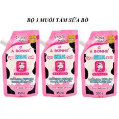 Bộ 3 Muối Tắm Tẩy Tế Bào Chết Sữa Bò A Bonné Spa Milk Salt 350g