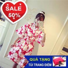 Bộ Váy ngủ kimono Nhật (Đỏ)