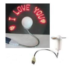 Quạt đèn led chạy chữ I Love You