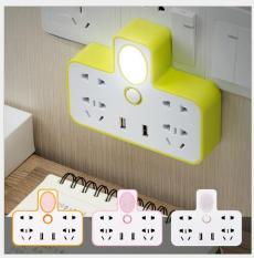 Ổ điện chia 2 cổng USB kiêm đèn ngủ