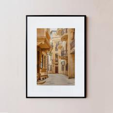 Khung ảnh gỗ 20x30cm (Kích thước A4) Azerbaija màu đen viền nhỏ 1.5cm