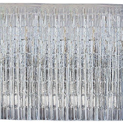 2 rèm trang trí màu bạc 2×2 mét