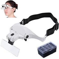 Kính lúp đeo mắt có đèn V5 cao cấp DOVA ( Trắng )
