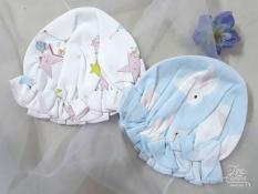 Set 02 Mũ vải cotton nhún bèo cho bé gái từ 0-6 tháng. Nón sơ sinh.