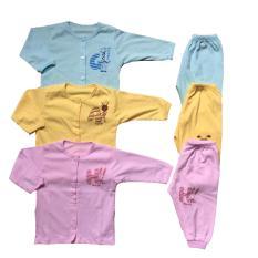 Combo 3 quần, 3 áo sơ sinh tay dài Thái Hà Thịnh
