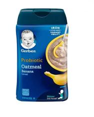 [HCM]Bột ăn dặm Gerber yến mạch chuối bổ sung Probiotic cho bé từ 6 tháng tuổi MẪU MỚI