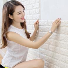 Miếng xốp dán tường cách âm ,cách nhiệt 3D giả gạch hàn quốc-khổ 70x77cm x dầy 7mm (loại 1 +nhiều màu đẹp bạn dễ lựa chọn)