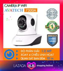 CAMERA IP WIFI AVATECH 7300A Full HD 720P Trang