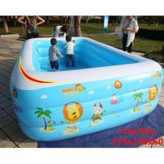 be boi cho be khuyen mai-Bể bơi phao trong nhà – gia đình ( tặng kèm bơm hơi), Hồ bơi phao cho bé cho trẻ em tập bơi, loại dày cao cấp cỡ lớn 210cm X 150cm X 60cm Tập bơi – Tập Bơi. Giá hấp dẫn khi mua online
