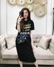 Đầm Váy Áo Thun Dáng Form Dài Suông Thời Trang FORHIMCS2 DAM 9000024 B