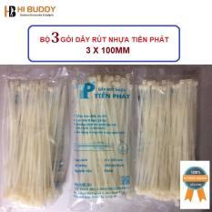 Bộ 3 gói dây rút nhựa Tiến Phát 3 x 100mm