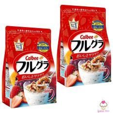 [HSD 1/2020] Ngũ cốc trái cây Calbee màu đỏ gói 800g – Nhật Bản