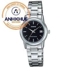 Đồng hồ nữ dây thép không gỉ Casio Anh Khuê LTP-V002D-1AUDF (Bạc)