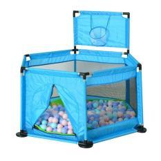 Nhà bóng khung kim loại cỡ lớn tặng kèm 20 bóng (xanh dương) – (BQ339-XANHDUONG)