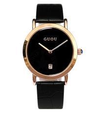 Đồng hồ nữ thời trang dây da cao cấp GUOU DA1