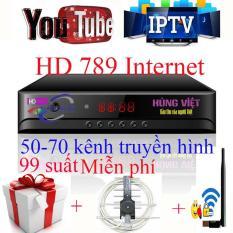 Đầu thu kỹ thuật số DVB T2 Hùng Việt HD789 Internet