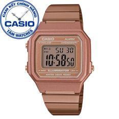 Đồng hồ nữ dây thép không gỉ Casio Standard Anh Khuê B650WC-5ADF