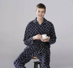 Bộ đồ ngủ Pijama cho Nam Hàn cao cấp họa tiết chấm bi Pinky 2041 (Free size)