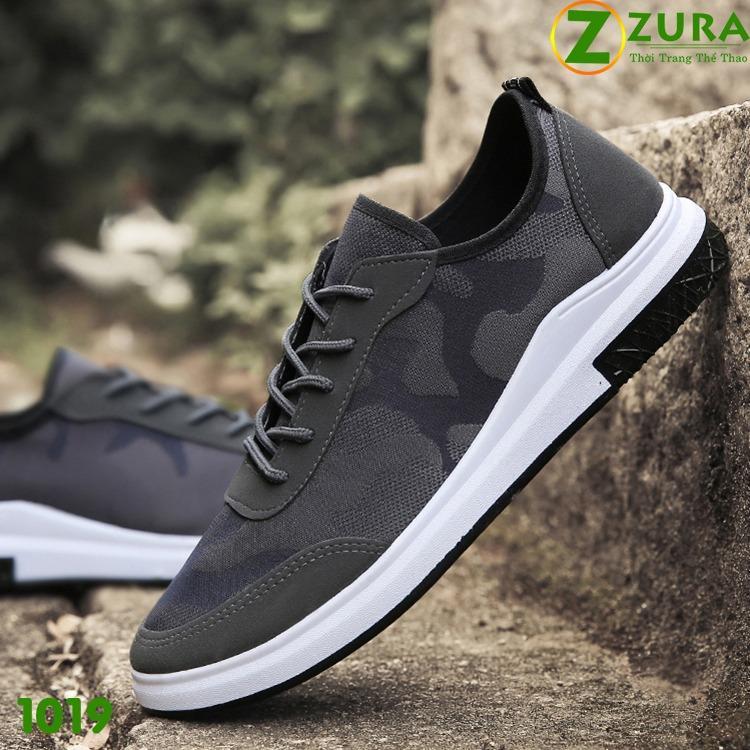 Giày thể thao nam 1019XAM (Xám đen)