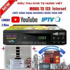Đầu thu kỹ thuật số TS123 internet(USB thu wifii+anten thông minh kèm dây 15m đúc sẵn jax)