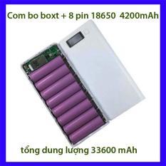 Bộ com bô Box sạc dự phòng 8 khe pin + 8 pin 18650 4200mAh