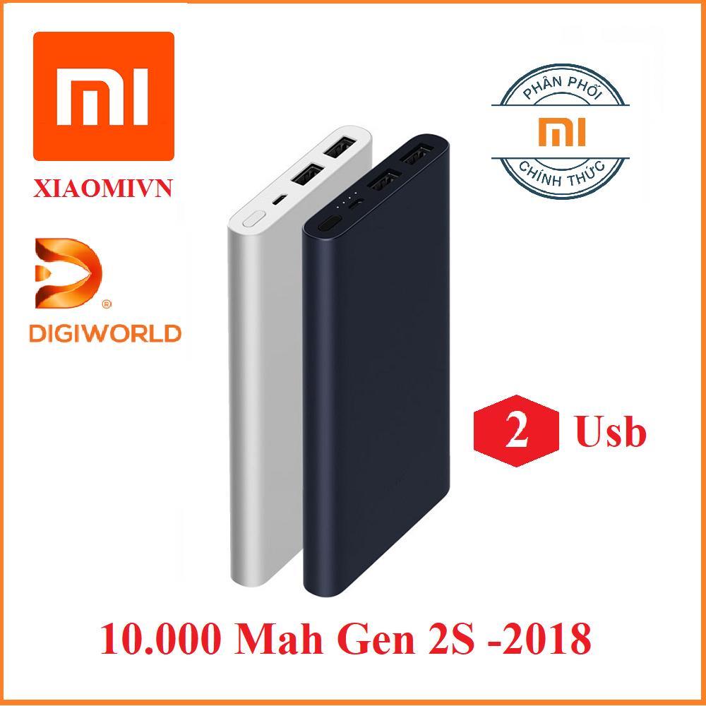 Giá Pin sạc dự phòng Xiaomi 10000 mAh Gen 2S sạc nhanh – Hàng DiGiWorld Phân phối Tại KIM LONG.