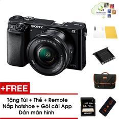 Máy ảnh Sony Alpha A6000 kèm Kit 16-50mm – Màu Đen – Tặng thẻ nhớ + Túi + Dán màn hình + Remote + Gói cài app + Nắp hotshoe – Hàng phân phối chính hãng