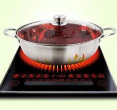Mua bếp lẩuNồi lẩu thái, nồi lẩu 2 ngăn – Loại Inox cao cấp, dày dặn, phù hợp với mọi bếp Từ, Hồng ngoại, BH uy tín 1 đổi 1.
