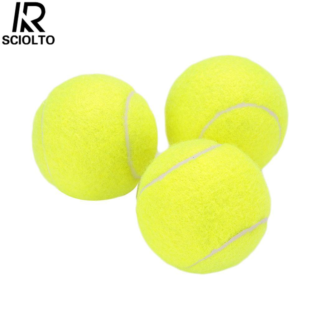 (Free Shipping)SCIOLTO SPORTS Tennis Ball Durable Elasticity Round Training Learning Sports Exercise Adults(One Piece) - intl