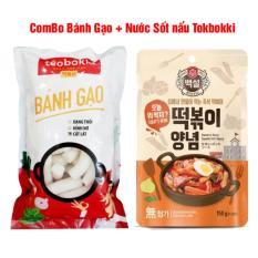 Combo Bánh Gạo Cay + Nước sốt Tokbokki Hàn Quốc