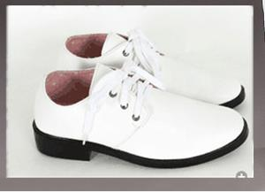 Màu Trắng Hiện Đại Buộc Dây Trẻ Em Chủ Nhỏ Giày Da Giày Da